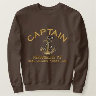 GROSSER Kapitän Personalize es Anker Emboidered Besticktes Sweatshirt