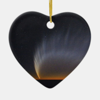 Großer Komet McNaught 2007 Keramik Herz-Ornament