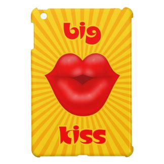 Großer Kuss goldene Solarder strahlen rote Lippen iPad Mini Hülle