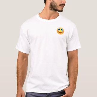 Großer Lächeln Emoji T - Shirt (oberster links