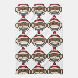 Großer Lächeln-Socken-Affe Emoji Handtuch