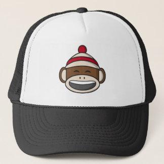 Großer Lächeln-Socken-Affe Emoji Truckerkappe