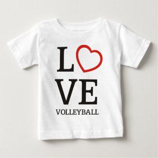 Großer LIEBE Volleyball Baby T-shirt