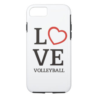 Großer LIEBE Volleyball iPhone 8/7 Hülle