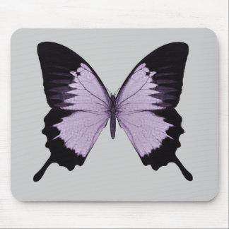 Großer lila u. schwarzer Schmetterling Mousepads
