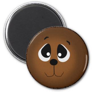 Großer mit Augen Bär Runder Magnet 5,7 Cm