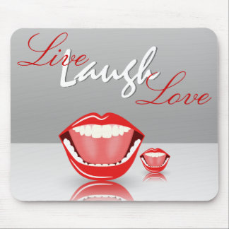 Großer Mund-Livelachen-Liebe Inspirational Mauspad