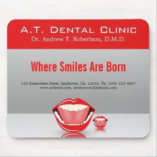 Großer Mund-zahnmedizinischer Zahnarzt-Standard Mauspad