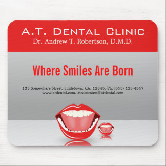 Großer Mund-zahnmedizinischer Zahnarzt-Standard Mousepad
