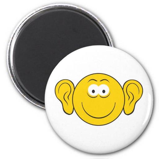 Großer Ohr-Smiley Kühlschrankmagnet