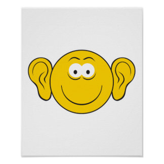 Großer Ohr-Smiley Posterdruck