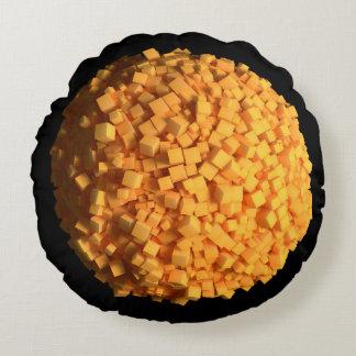 Großer Ol Käse-Ball-rundes Kissen