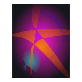 Großer orange abstrakter Stern Custom Flyer