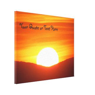 Großer orange Sonnenuntergang Leinwanddruck