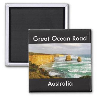 Großer Ozean-Straßen-Australien-Magnet Quadratischer Magnet