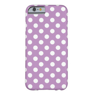 Großer Polka-Punkt lila iPhone 6 Kasten Barely There iPhone 6 Hülle