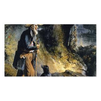 Großer Reisender Charles Lesueur durch Karl Bodmer Visitenkarten