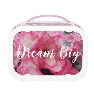 Großer rosa Blumentraumlunchbox Brotdose