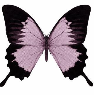 Großer rosa u. schwarzer Schmetterling - personifi Freistehende Fotoskulptur