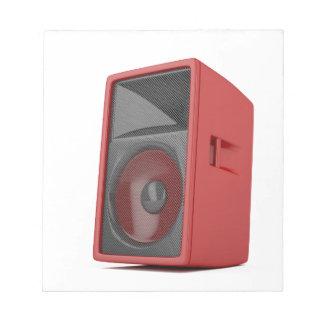 Großer roter Lautsprecher Notizblock