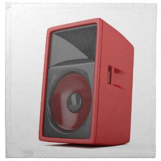 Großer roter Lautsprecher Serviette