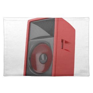 Großer roter Lautsprecher Tischset