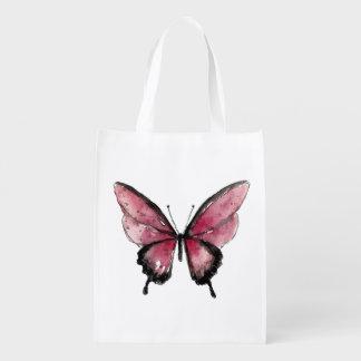 Großer roter Schmetterling Einkaufstaschen