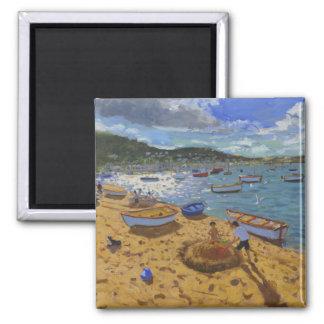 Großer Sandcastle Teignmouth 2013 Quadratischer Magnet