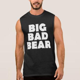 Großer schlechter Bärn-weiße Bärenpranke-Rückseite Ärmelloses Shirt