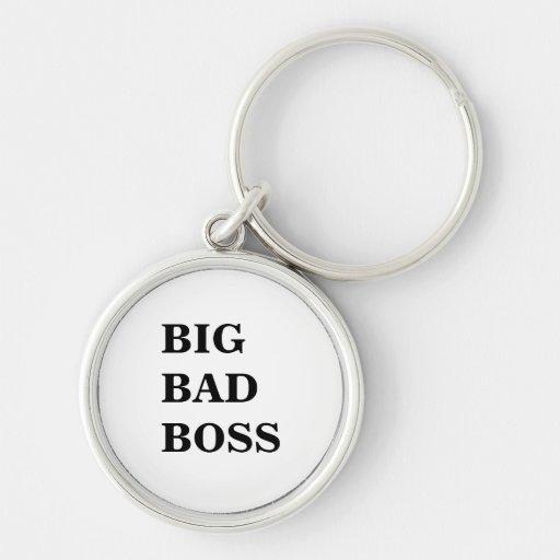 Großer schlechter Chef-beängstigender Chef-Name Sc Schlüsselanhänger