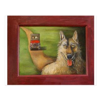 Großer schlechter Wolf Postkarte