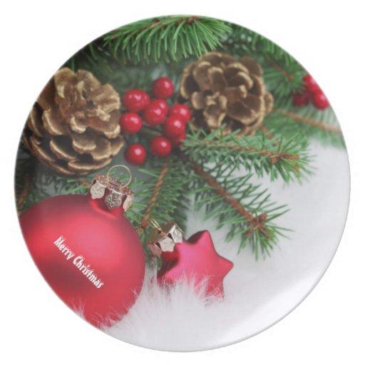 Großer Teller der frohen Weihnachten