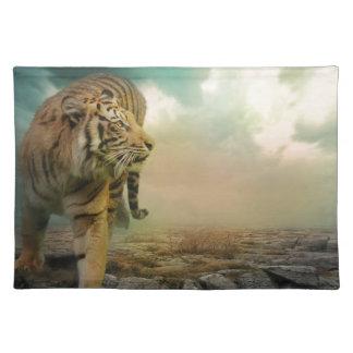 Großer Tiger Stofftischset