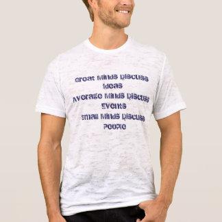 Großer Verstand bespricht IdeasAverage Verstand T-Shirt