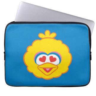 Großer Vogel-lächelndes Gesicht mit Herz-Förmigen Laptop Sleeve