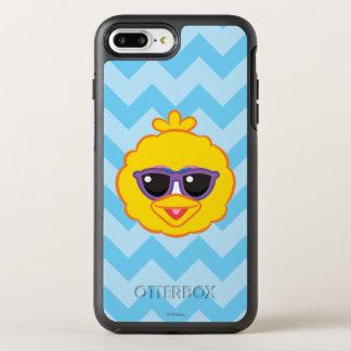 Großer Vogel-lächelndes Gesicht mit Sonnenbrille OtterBox Symmetry iPhone 8 Plus/7 Plus Hülle