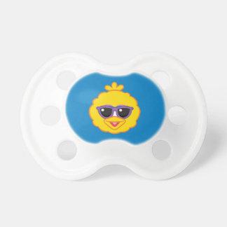 Großer Vogel-lächelndes Gesicht mit Sonnenbrille Schnuller