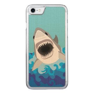 Großer weißer Haifisch-lustiger Cartoon Carved iPhone 8/7 Hülle
