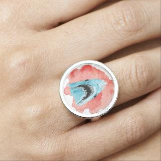 Großer weißes Wasser-Farbring Ring