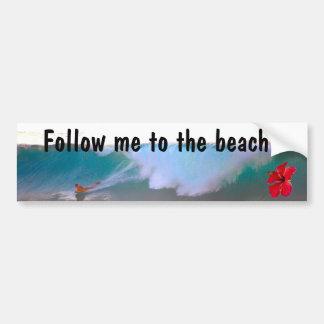 Großer Wellen-Strand-Tag Autoaufkleber