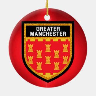 Größere Manchester-Flagge Keramik Ornament