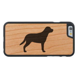 Größere Schweizer GebirgshundeSilhouette Carved® iPhone 6 Hülle Kirsche