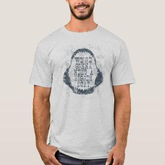 GRÖSSERER BOOTS-ZITAT-HAIFISCH T-Shirt