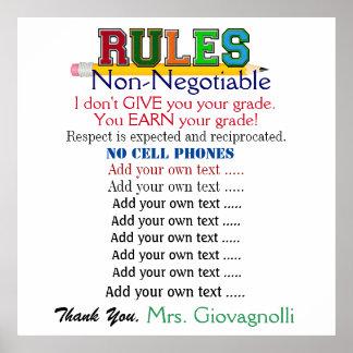Größeres Lehrer-Klassenzimmer der Versions-#2 Poster