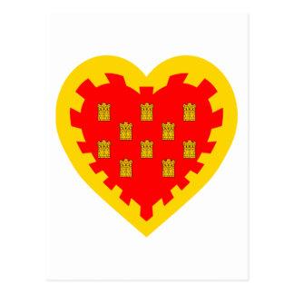 Größeres Manchester-Flaggen-Herz Postkarte