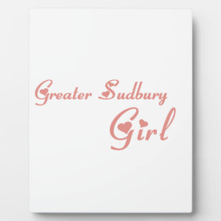Größeres Sudbury Mädchen Fotoplatte