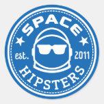 """Großes 3"""" Raum-Hipster-Logo-Aufkleber Runder Aufkleber"""