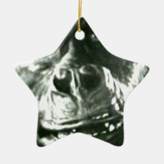 Großes Affe-Gesicht Keramik Stern-Ornament