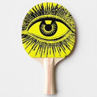 Großes Auge sehen Sie Hypnose-Krankenhaus ICU Tischtennis Schläger