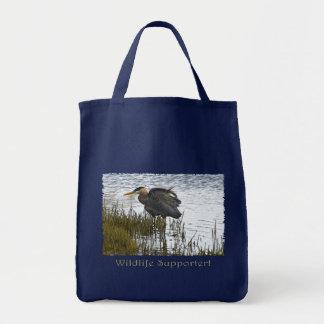 GROSSES BLAU-REIHER Taschen-Taschen Tragetasche